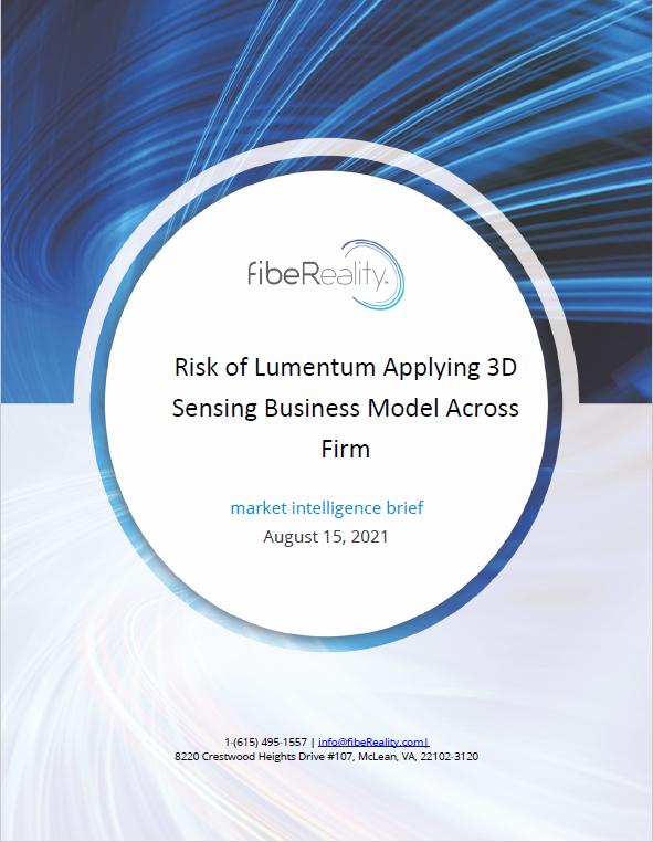 Risk of Lumentum Applying 3D Sensing Business Model Across Firm